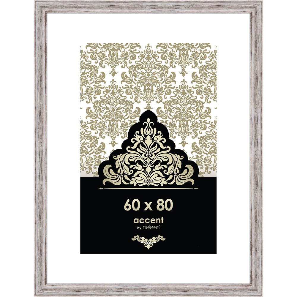 Holz-Bilderrahmen Vintage Weiß 60x80 cm