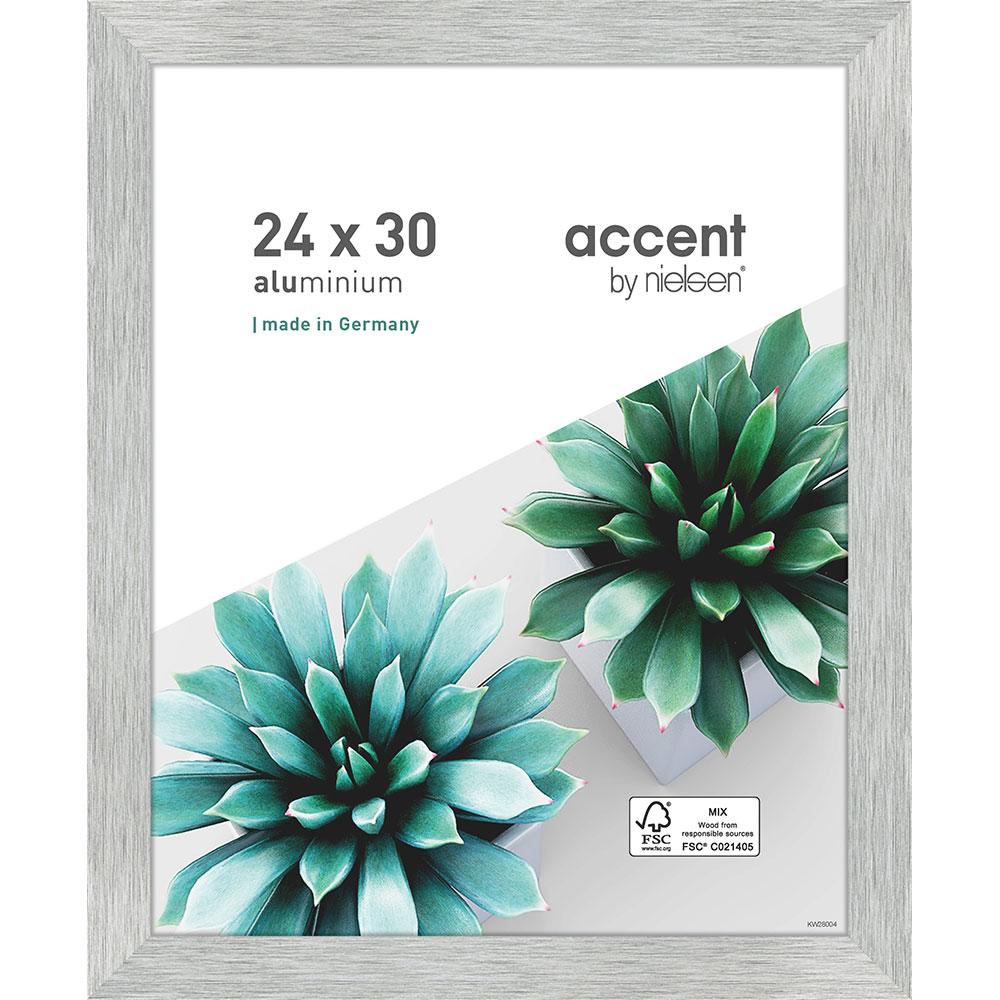 Accent Alu-Bilderrahmen Star 24x30 cm - Silber matt | AllesRahmen.de