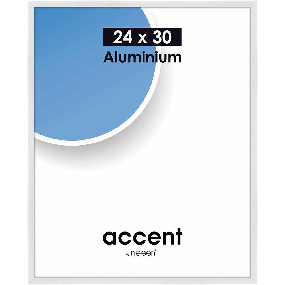 Alurahmen Accent Weiß glänzend 24x30 cm