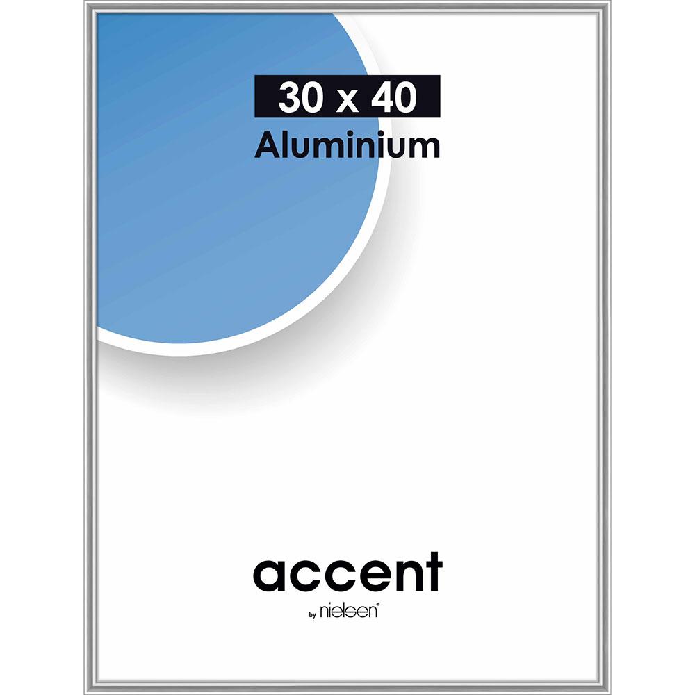 Alurahmen Accent Silber glanz 30x40 cm