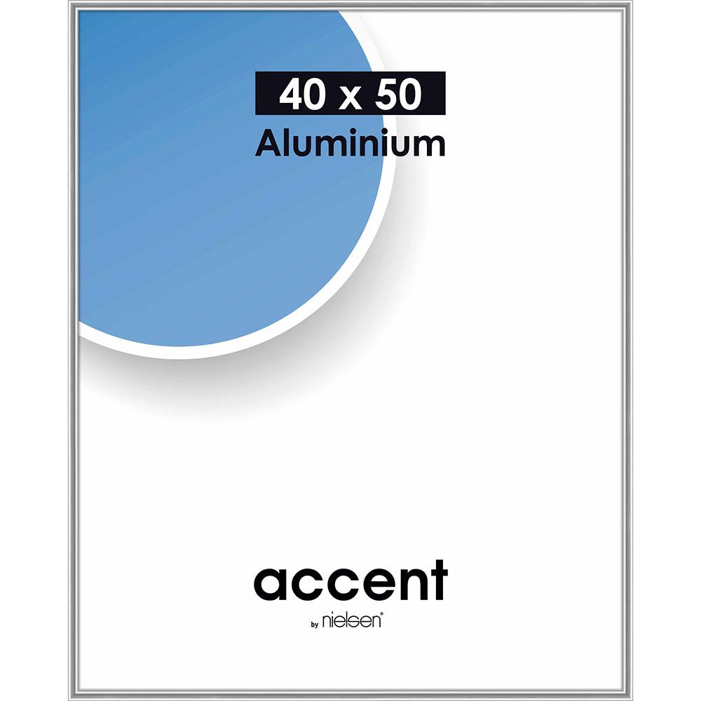 Alurahmen Accent Silber glanz 40x50 cm