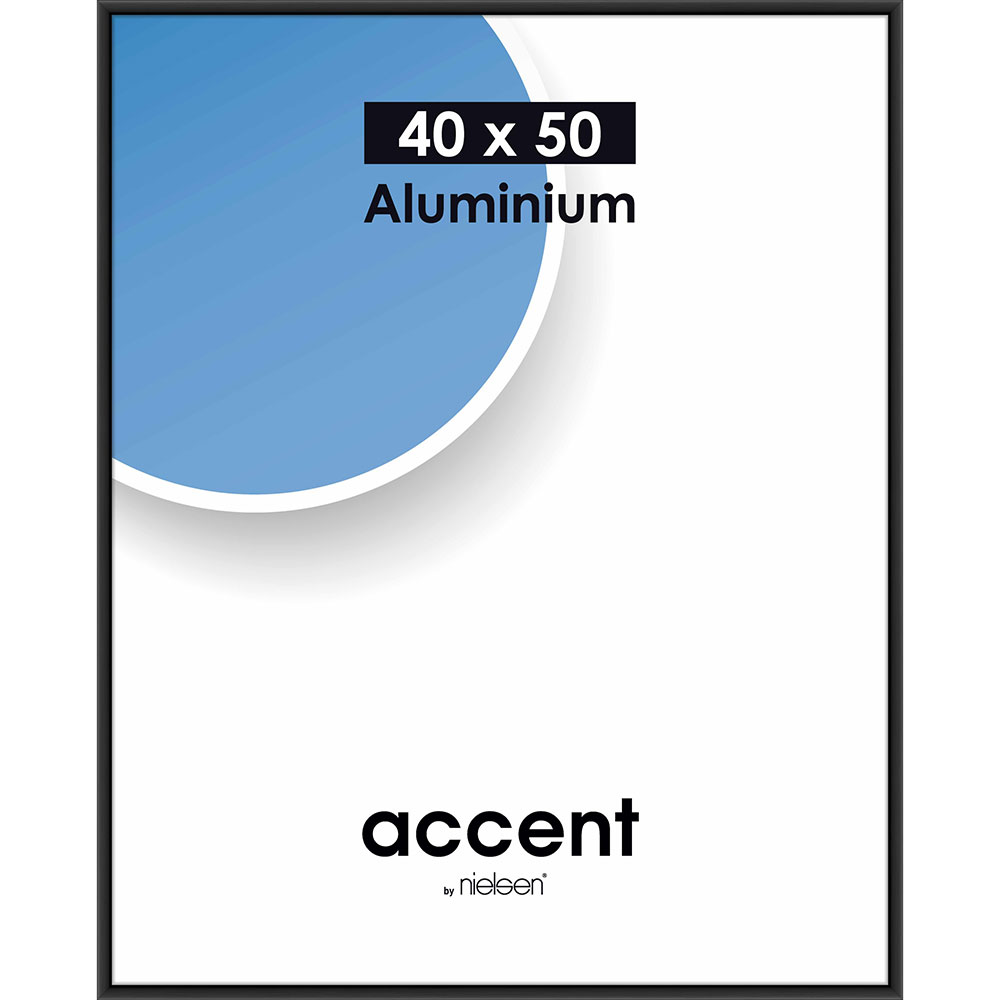 Alurahmen Accent Schwarz matt 40x50 cm