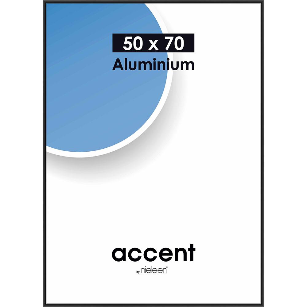 Alurahmen Accent Schwarz matt 50x70 cm