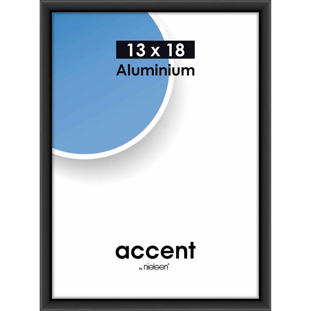 Alurahmen Accent Schwarz matt 13x18 cm