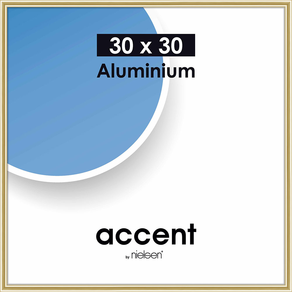 Alurahmen Accent Gold glanz 30x30 cm