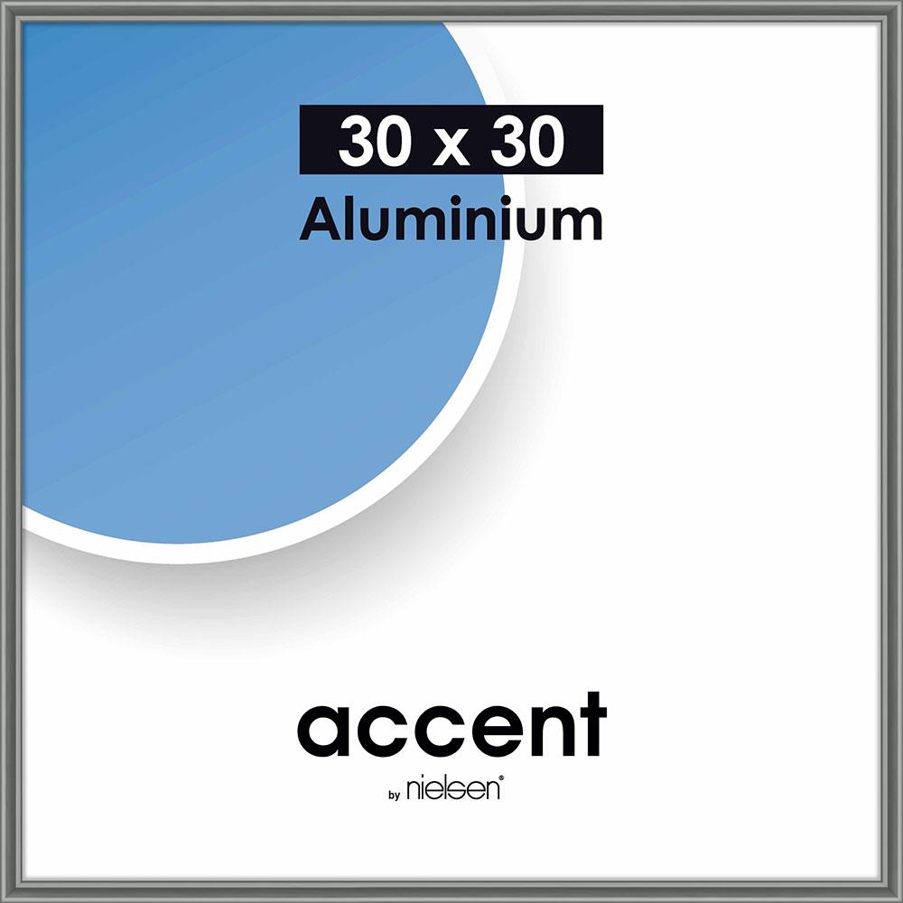 Alurahmen Accent Stahlgrau 30x30 cm