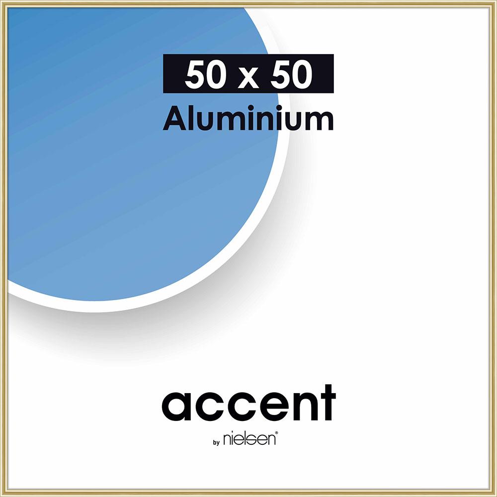 Alurahmen Accent Gold glanz 50x50 cm