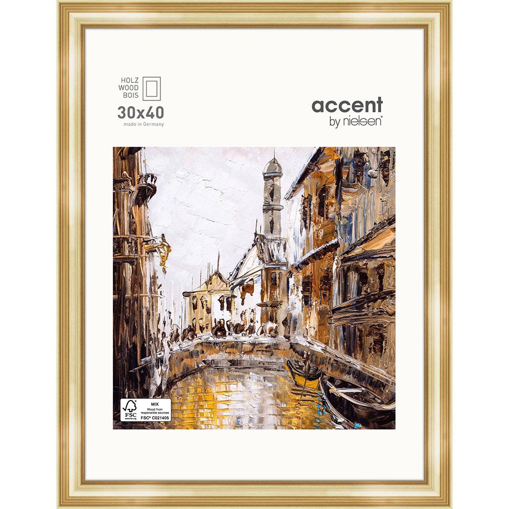 Holz-Bilderrahmen Antigo Gold 30x40 cm