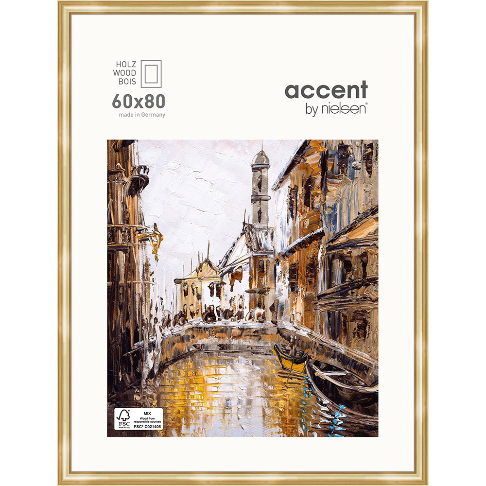 Holz-Bilderrahmen Antigo Gold 60x80 cm