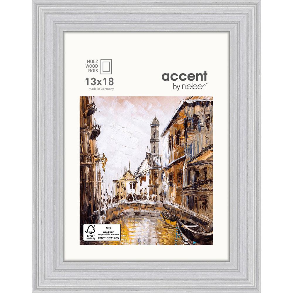 Holz-Bilderrahmen Antigo Grau 13x18 cm