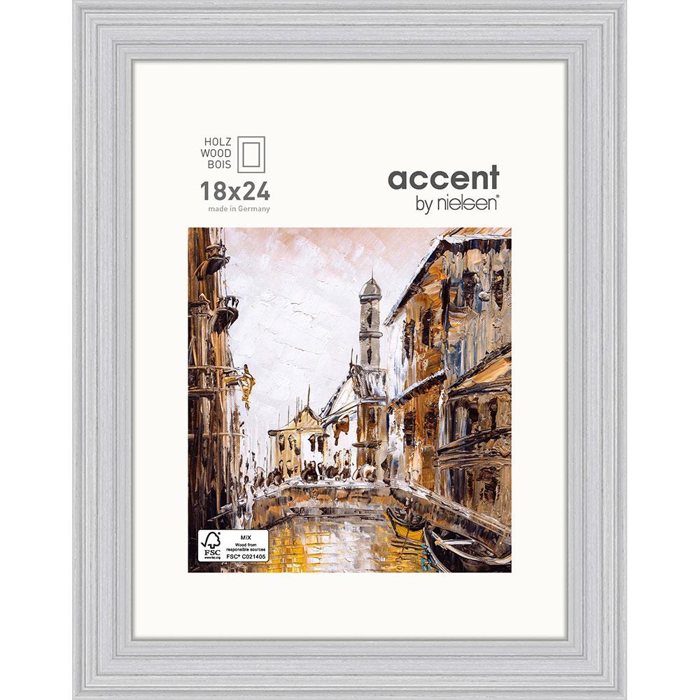 Holz-Bilderrahmen Antigo Grau 18x24 cm