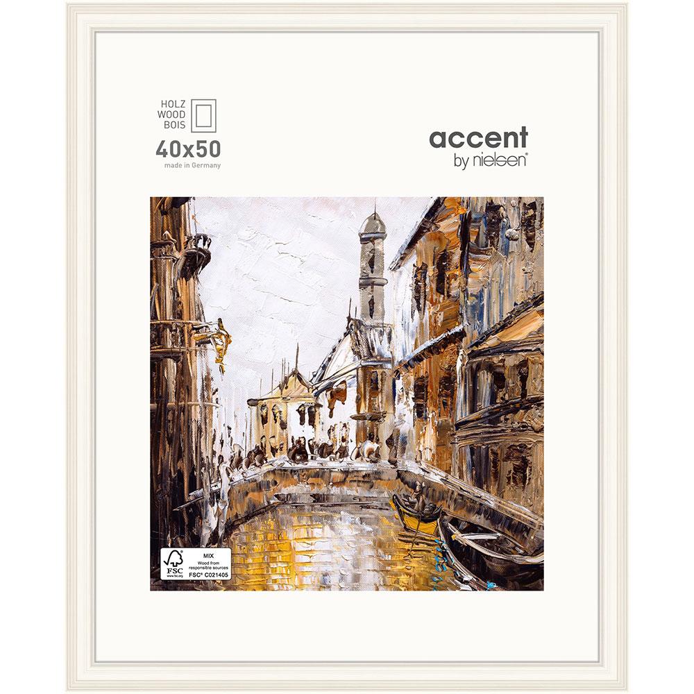 Holz-Bilderrahmen Antigo Weiß 40x50 cm