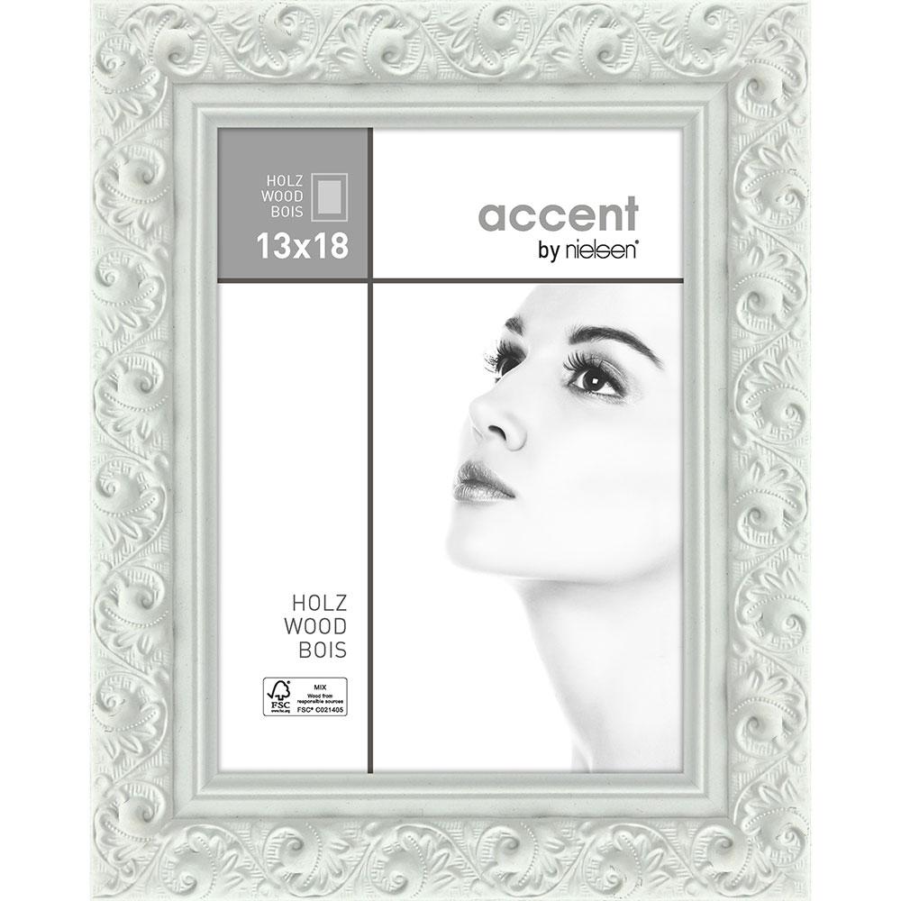 Holz-Bilderrahmen Arabesque Weiß 13x18 cm