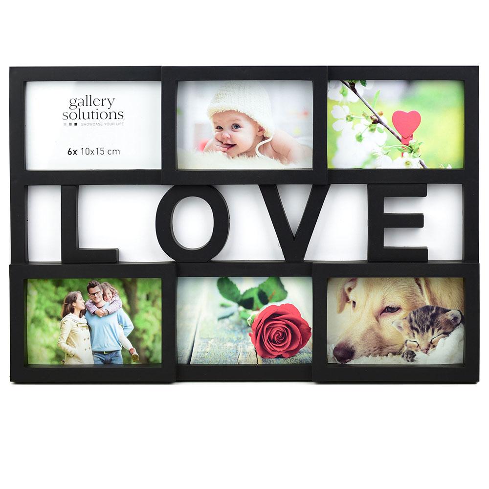 Collage-Bilderrahmen Love schwarz