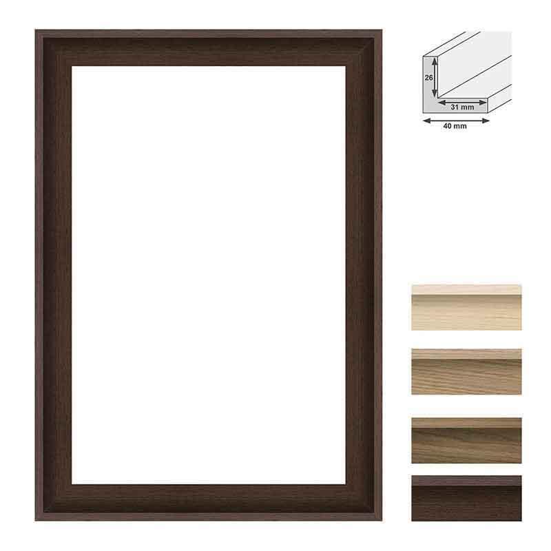 aicham larson juhl schattenfugenrahmen touchwood 40 30x40 cm echtfurnier eiche. Black Bedroom Furniture Sets. Home Design Ideas