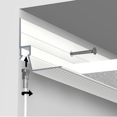 Deckensystem Ceiling Strip (Systemdecken) - Weiß