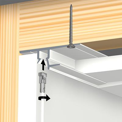 Deckensystem Shadowline drywall (Gipsplatte) - Blanc
