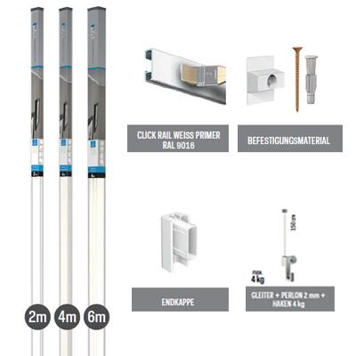 All-in-one-Kit Click Rail - Weiß grundiert