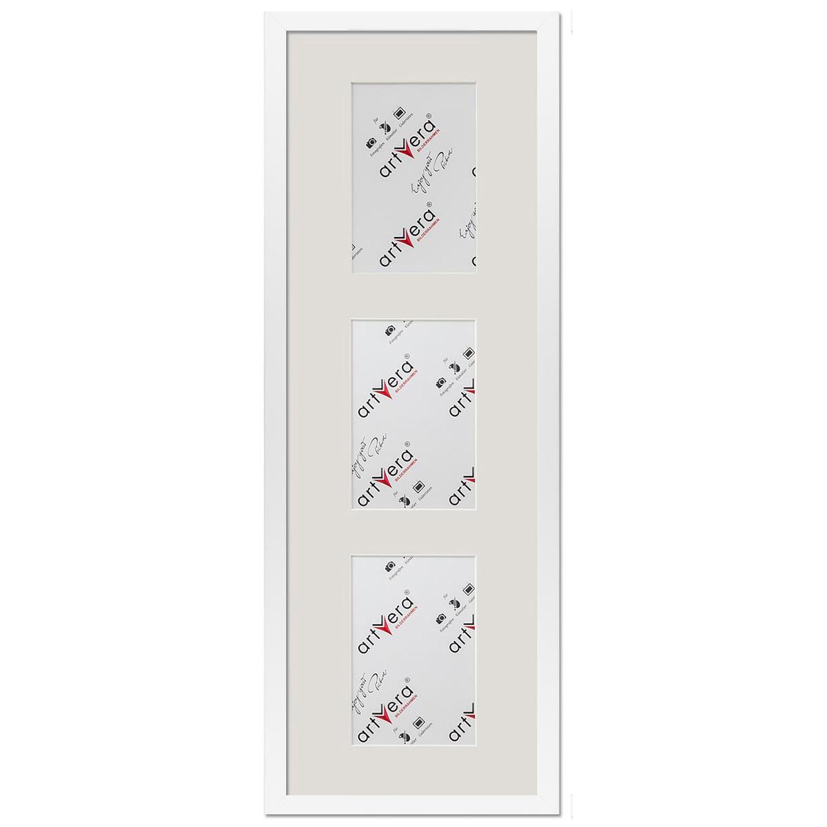 """3er Galerierahmen """"Lund"""", 20x60 cm - 10x15 cm Weiß"""