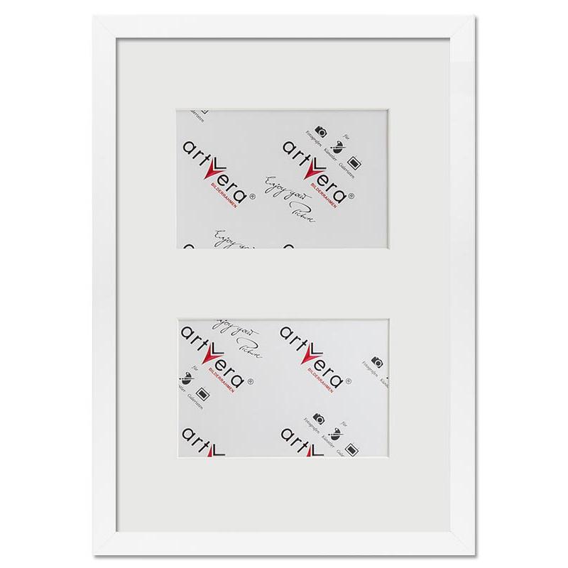 """2er Galerierahmen """"Lund"""", 25x35 cm - 10x15 cm Weiß"""