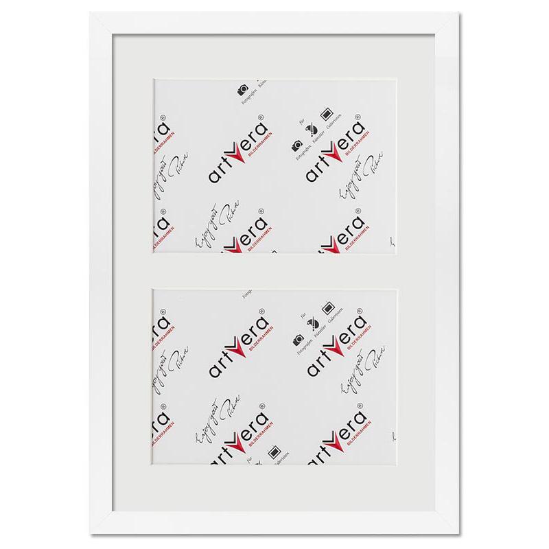 """2er Galerierahmen """"Lund"""", 25x35 cm - 13x18 cm Weiß"""