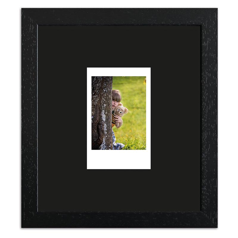 Bilderrahmen für 1 Sofortbild - Typ Instax Mini Schwarz, gemasert