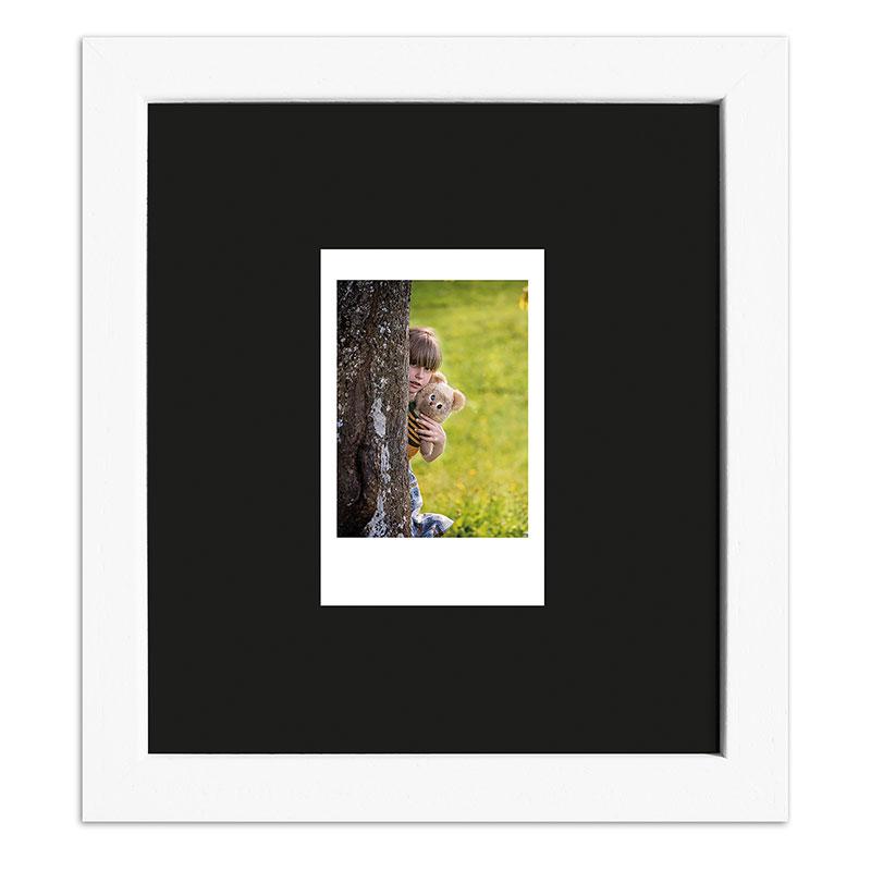 Bilderrahmen für 1 Sofortbild - Typ Instax Mini Weiß, gemasert