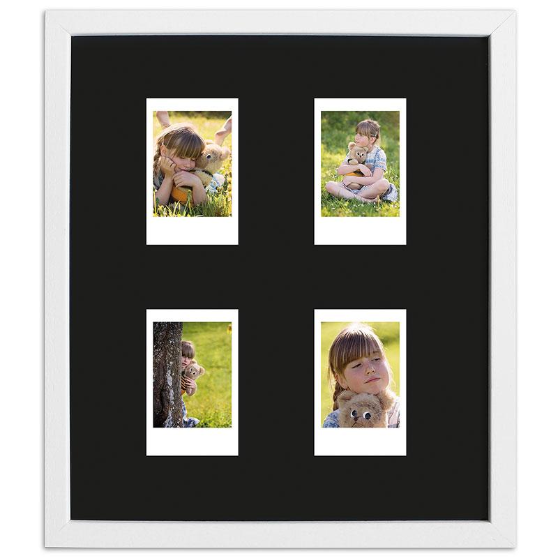 Bilderrahmen für 4 Sofortbilder - Typ Instax Mini Weiß, gemasert
