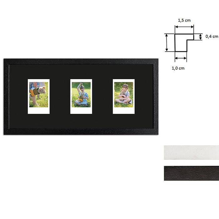 Bilderrahmen für 3 Sofortbilder - Typ Instax Mini