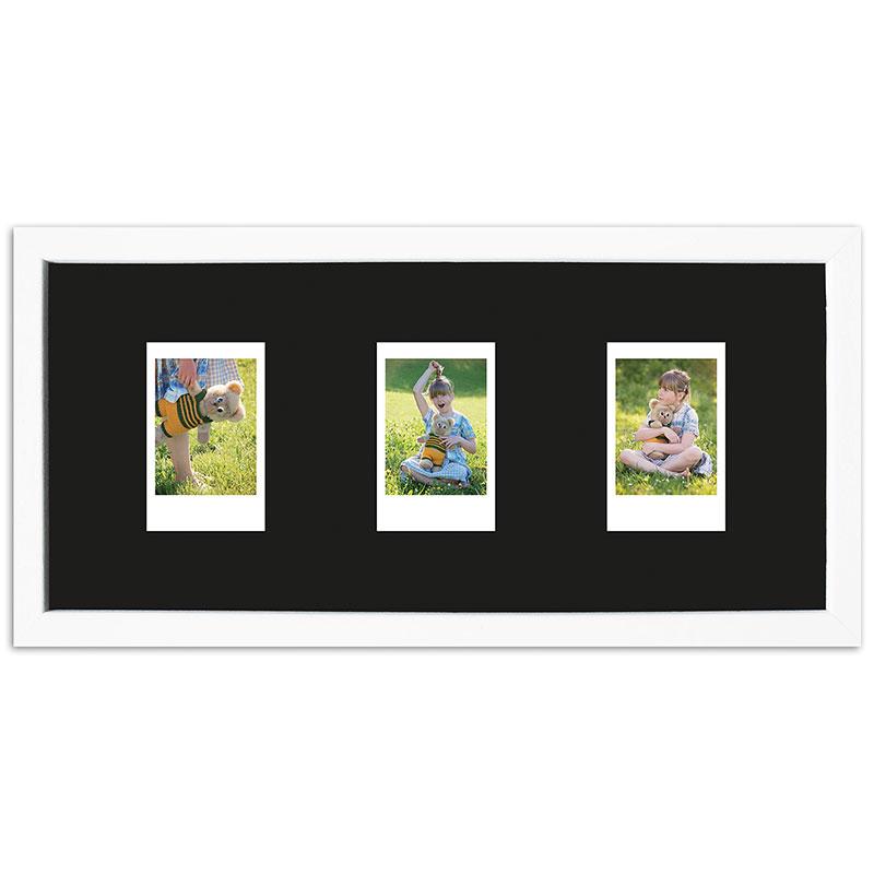 Bilderrahmen für 3 Sofortbilder - Typ Instax Mini Weiß, gemasert