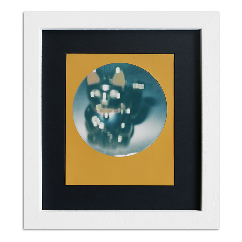 Bilderrahmen für 1 Sofortbild - Typ Polaroid 600 Weiß, gemasert
