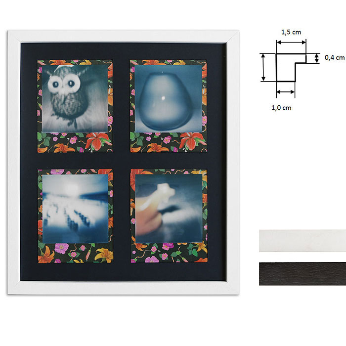 Bilderrahmen für 4 Sofortbilder - Typ Polaroid 600