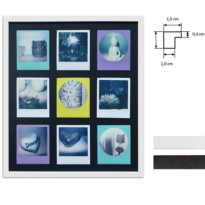 Artvera-Bilderrahmen Bilderrahmen für 9 Sofortbilder - Typ Polaroid ...