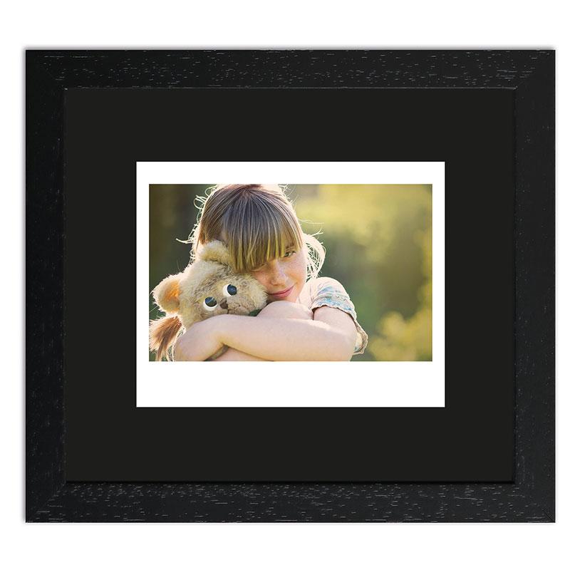 Bilderrahmen für 1 Sofortbild - Typ Instax Wide Schwarz, gemasert