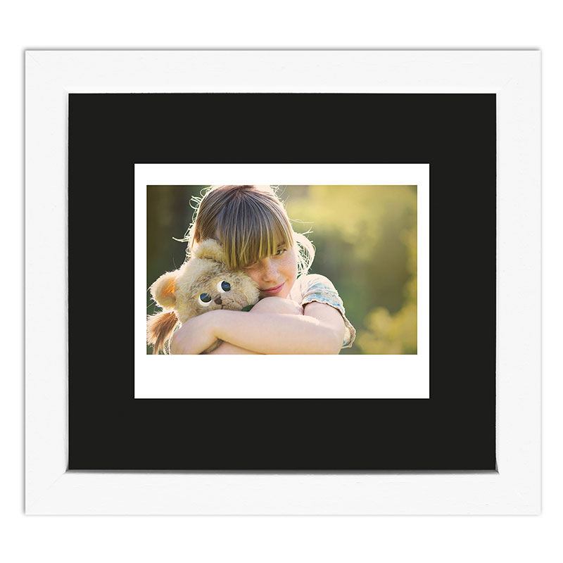 Bilderrahmen für 1 Sofortbild - Typ Instax Wide Weiß, gemasert