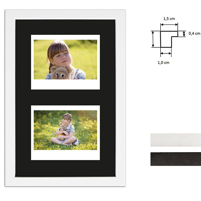 Bilderrahmen für 2 Sofortbilder - Typ Instax Wide