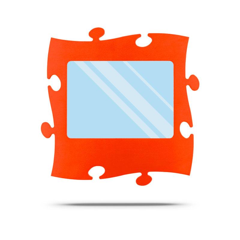 Puzzle Spiegel 20 x 28 cm orange
