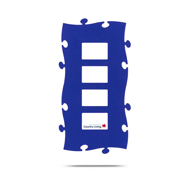 Puzzle Rahmen blau