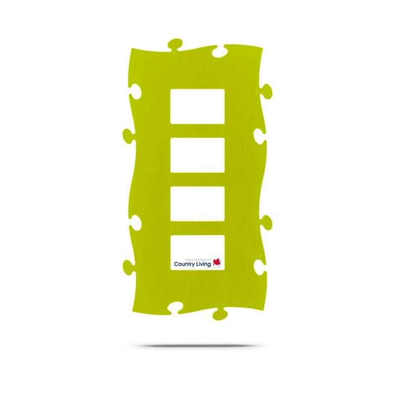 Countryliving Puzzle Rahmen 4 mal 10x15 - gruen | AllesRahmen.de