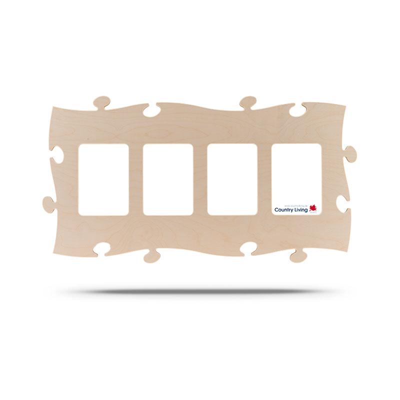 Countryliving Puzzle Rahmen 4 mal 13x18 - natur | AllesRahmen.de