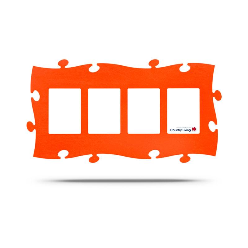 Puzzle Rahmen orange