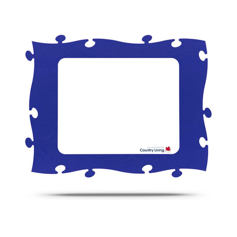 Countryliving Puzzle Rahmen 40x50 - blau | AllesRahmen.de