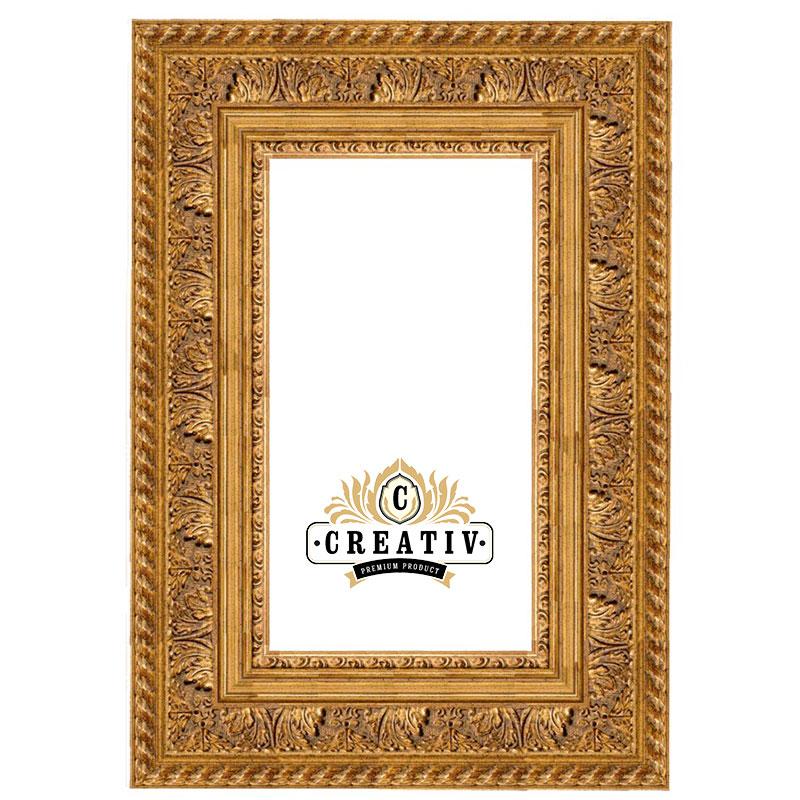Barock Holzbilderrahmen Trapani Maßanfertigung gold