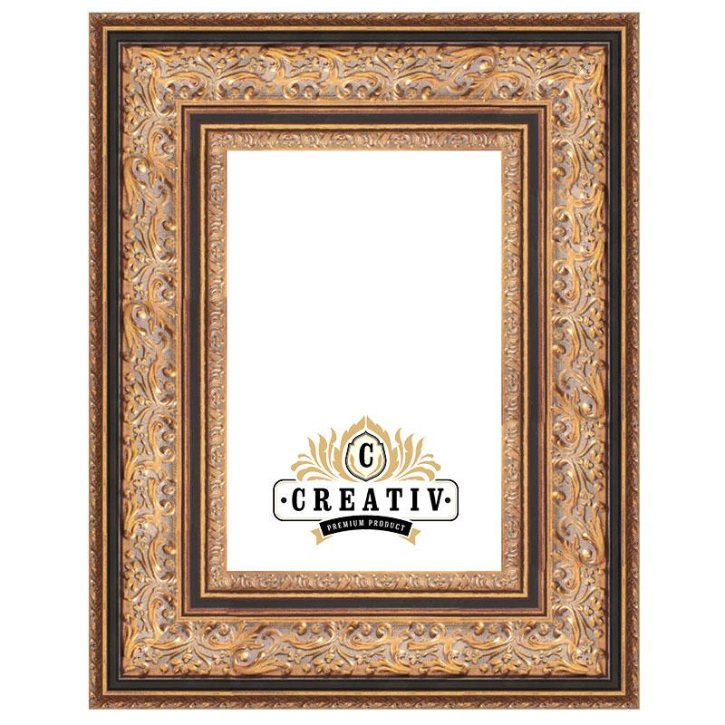 Barock-Bilderrahmen Trento Maßanfertigung gold-schwarz