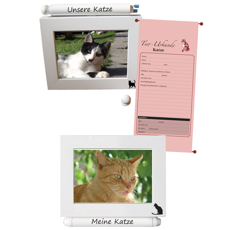 """Fotorahmen mit Urkunde """"Katze"""""""