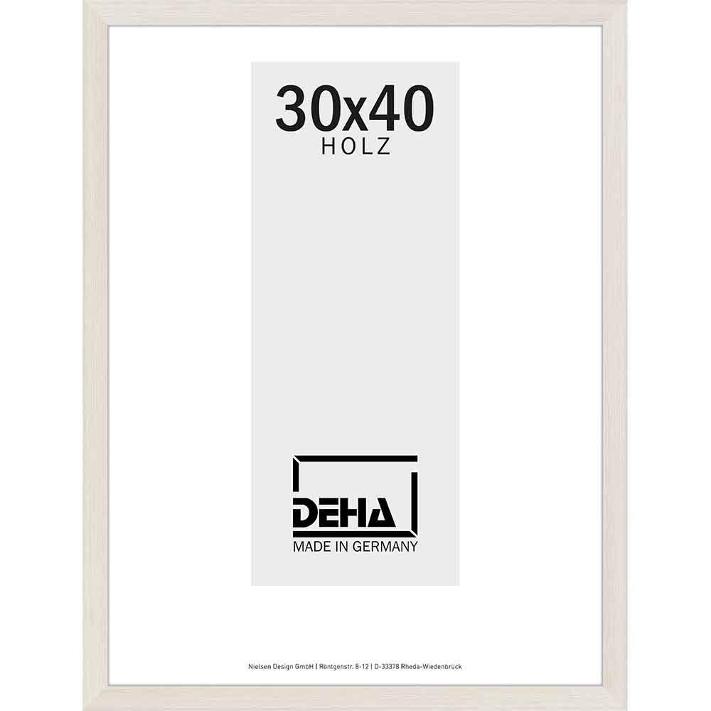 Distanz-Holzrahmen Bunda Esche Weiß lasiert