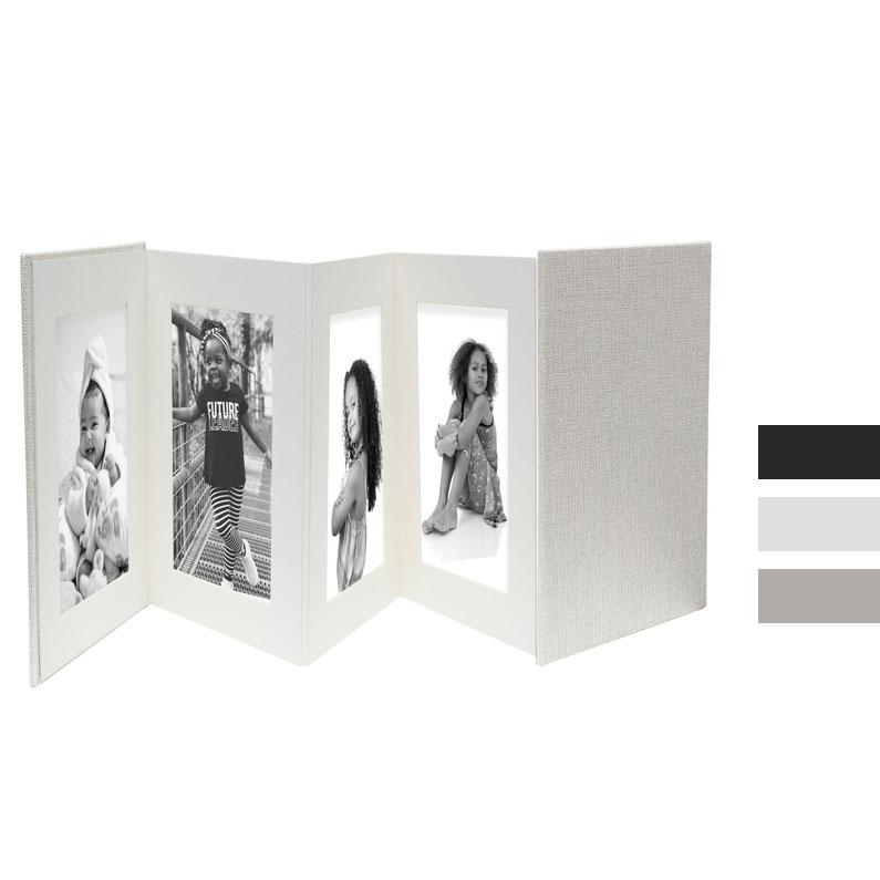 Deknudt Leporello aus Leder für 8 Bilder 13x18 cm - weißes Leder ...
