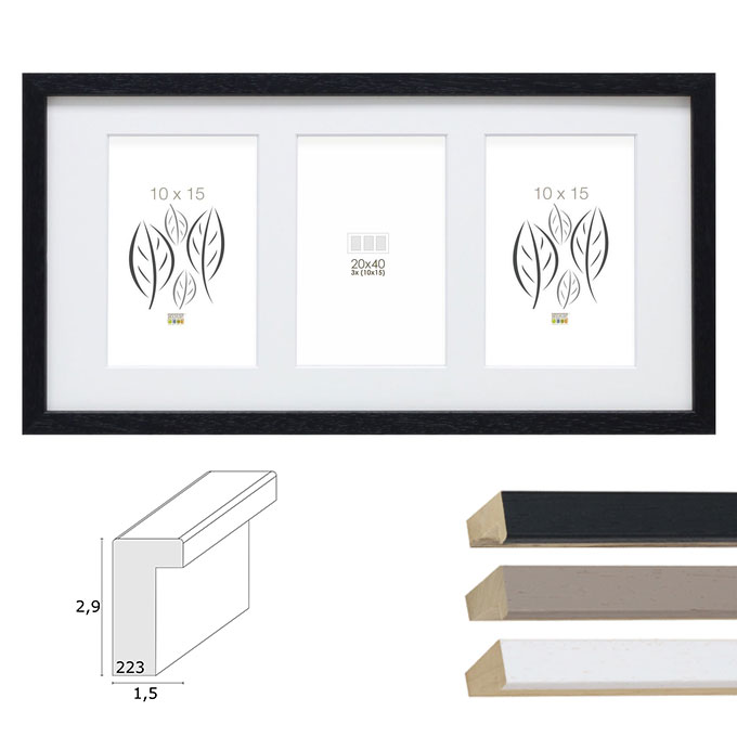 "3er-Galerierahmen ""Tongeren"" für 10x15 cm"