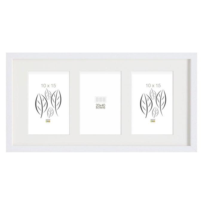 3er-Galerierahmen Tongeren für 10x15 cm Weiß