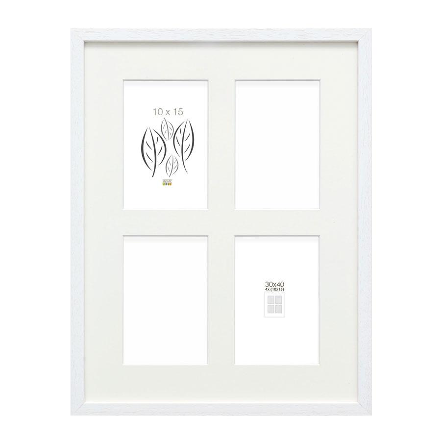 4er-Galerierahmen Tongeren für 10x15 cm Weiß